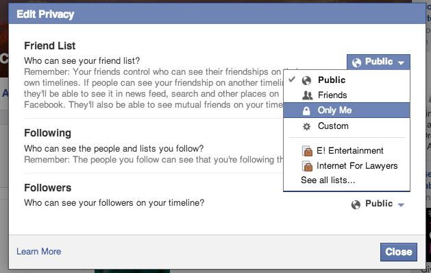 How Private is your Facebook Friends List?
