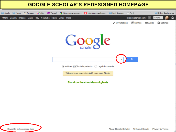 Google Scholar Updates Search Interface | Hides, Reduces Advanced