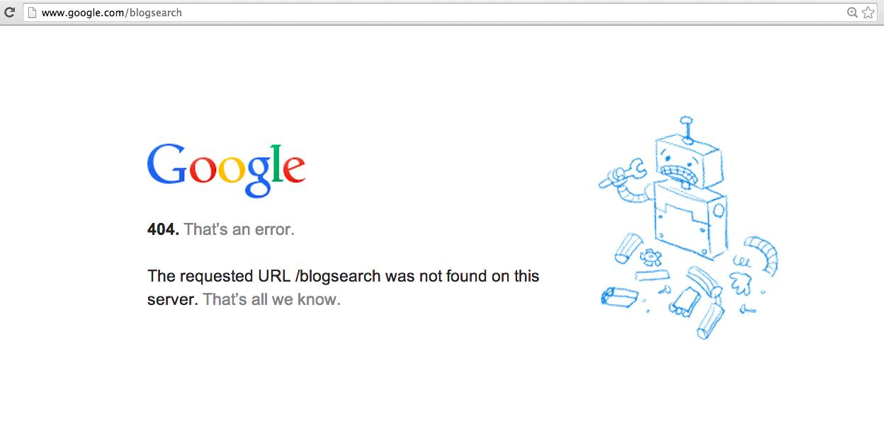 Google Kills Blogsearch Database