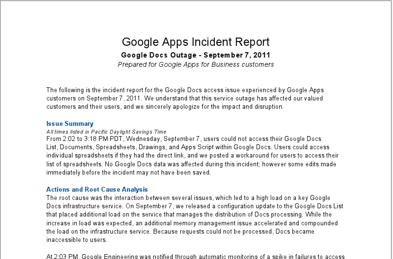Google Apps Provides Status Checker | Continuing Legal