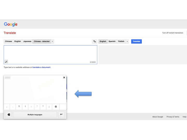Google Translate Includes Handwriting Feature Continuing Legal