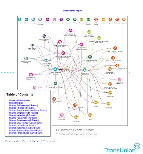 TLO Relationship Report Interactive Diagram