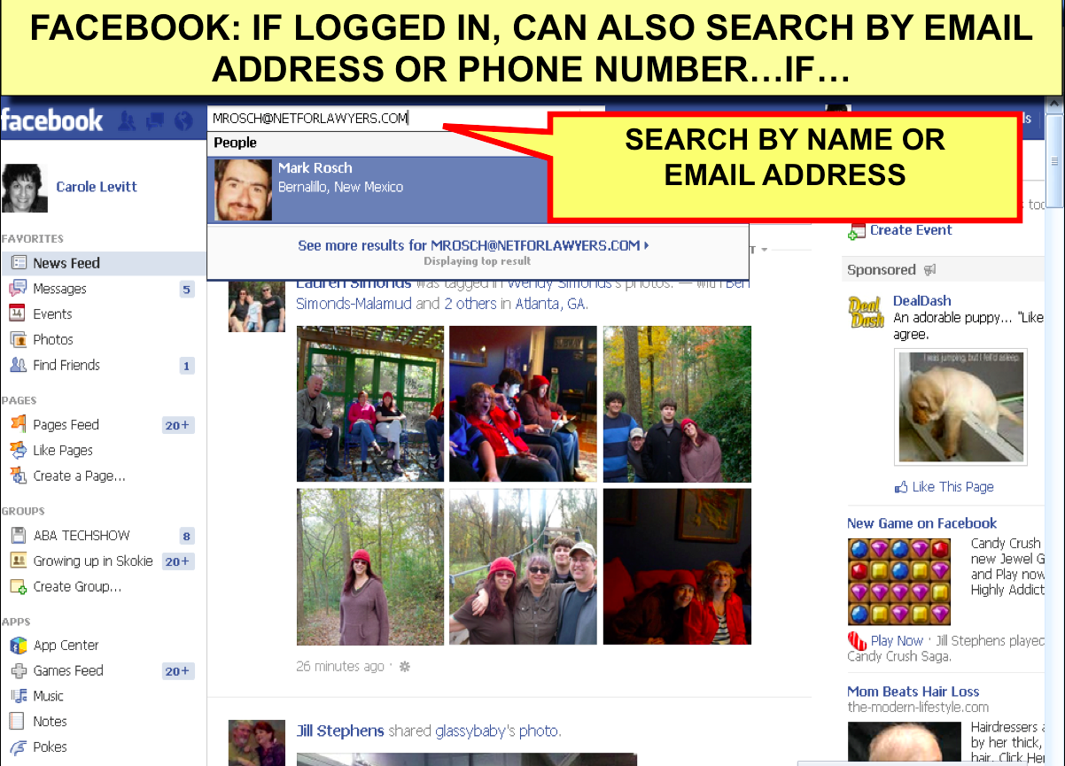 Facebook Name Search