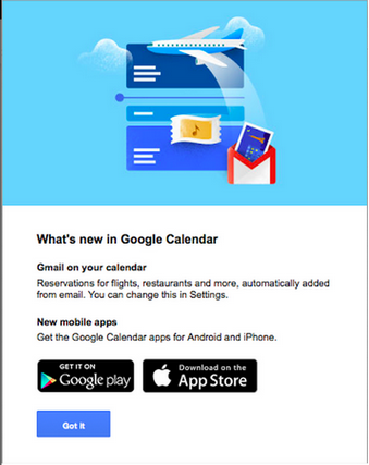 events from gmail popup