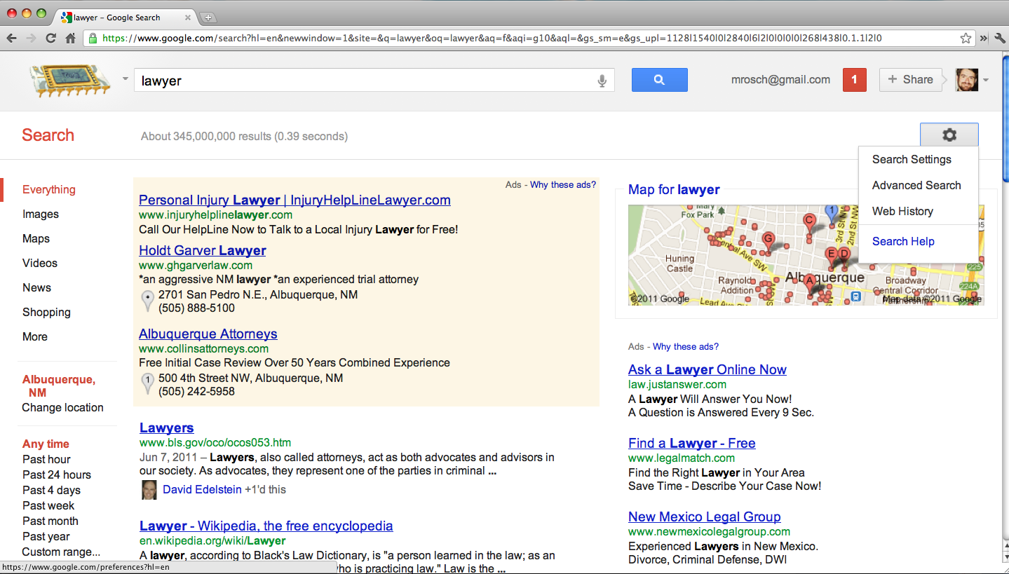 Google redesigns home page again hides advanced search for Advanced home search