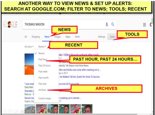 Google News Alerts