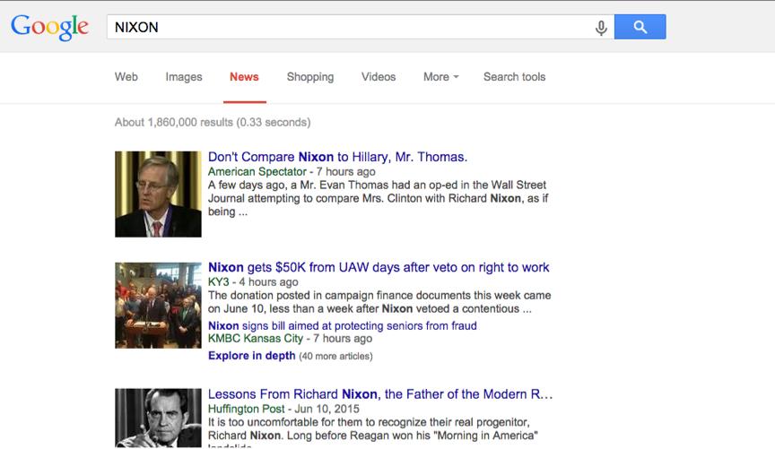 Google News Search Nixon